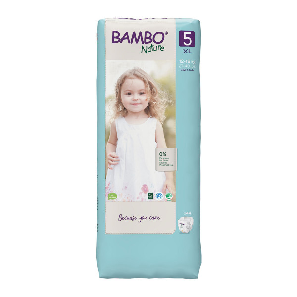 Bambo pelene Nature 5 junior 12-18kg 44kom