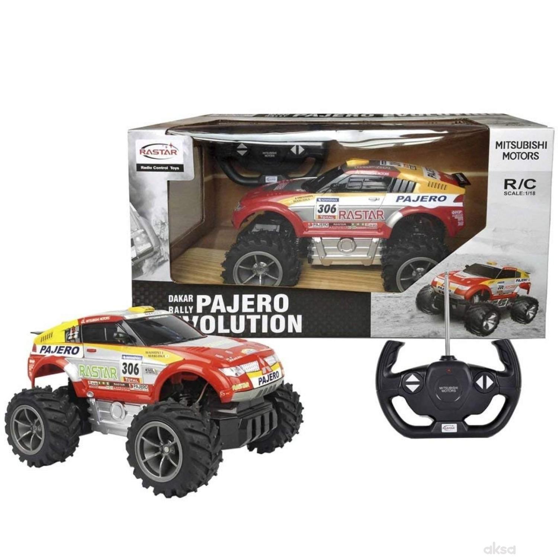 Rastar igračka RC automobil Pajero 1:18 - crv