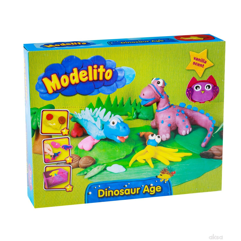 Modelito, plastelin set dinosaursi