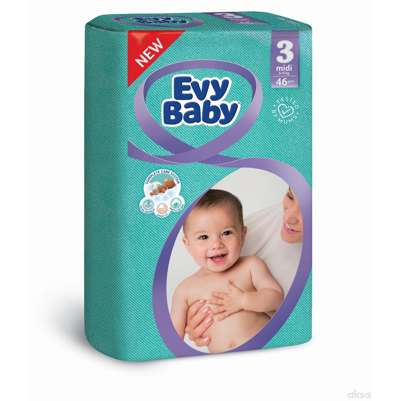Evybaby pelene twinpack 3 midi 46kom