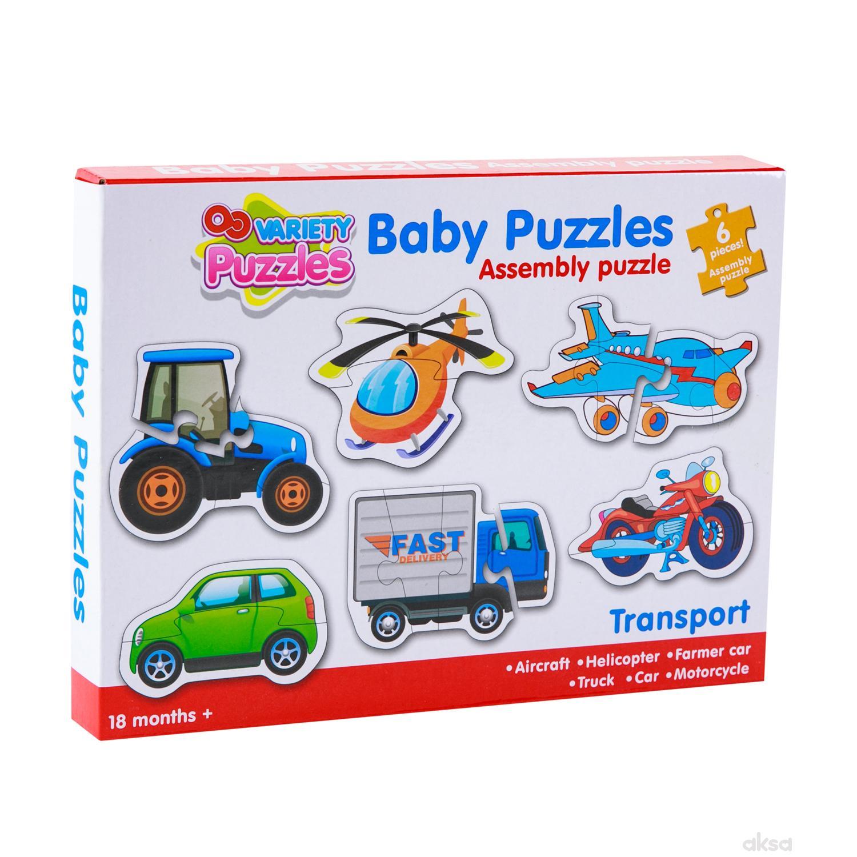 HK Mini baby puzzle prevozna sredstva