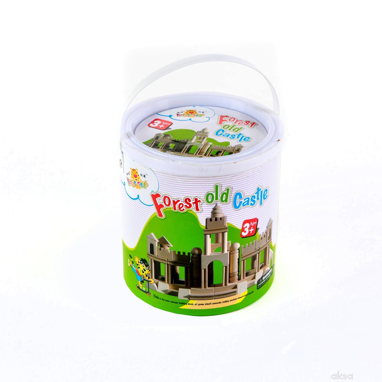 HK Mini igračka drvene kocke tvrđava