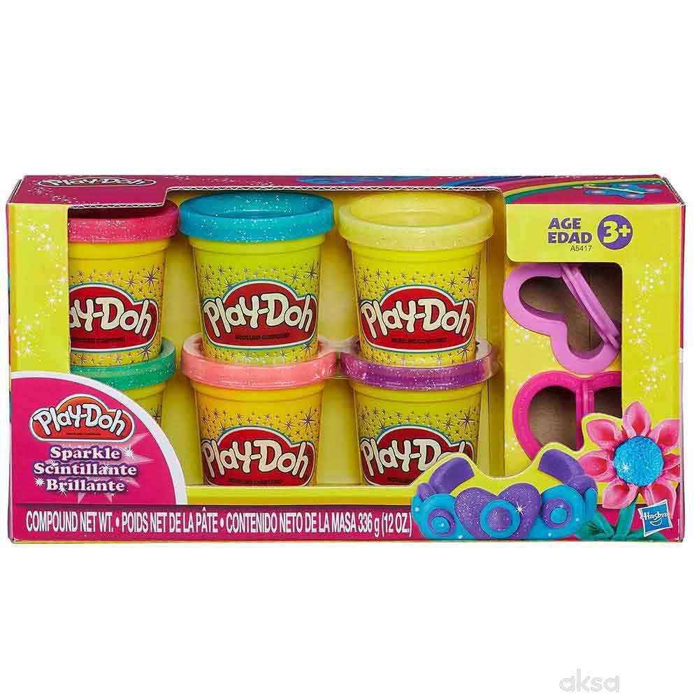 Play-doh sjajni plastelin