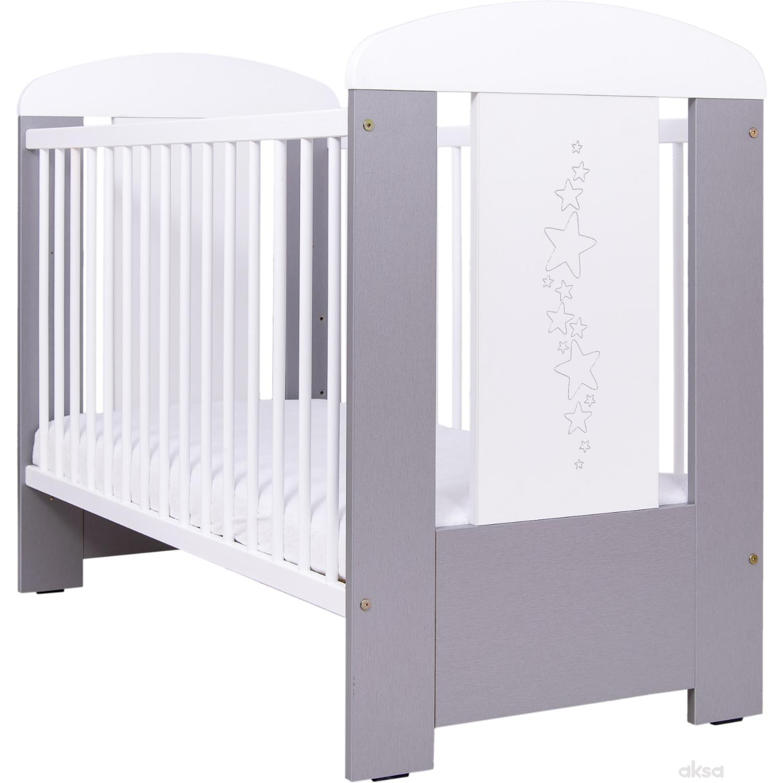 Drewex krevetac Zvezdice belo/sivi