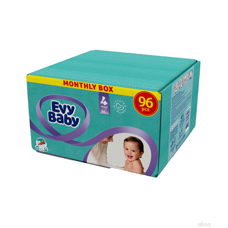 Evy baby pelene box 4 maxi 7-18kg 96 kom