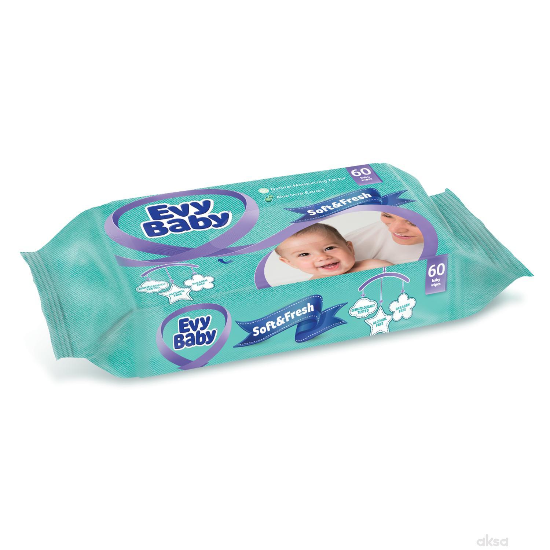 Evy baby vlažne maramice soft 60 kom