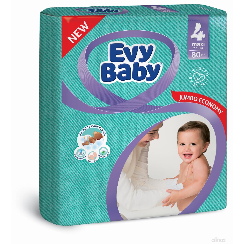 Evy baby pelene giant pack 4 maxi 7-18kg 80 kom