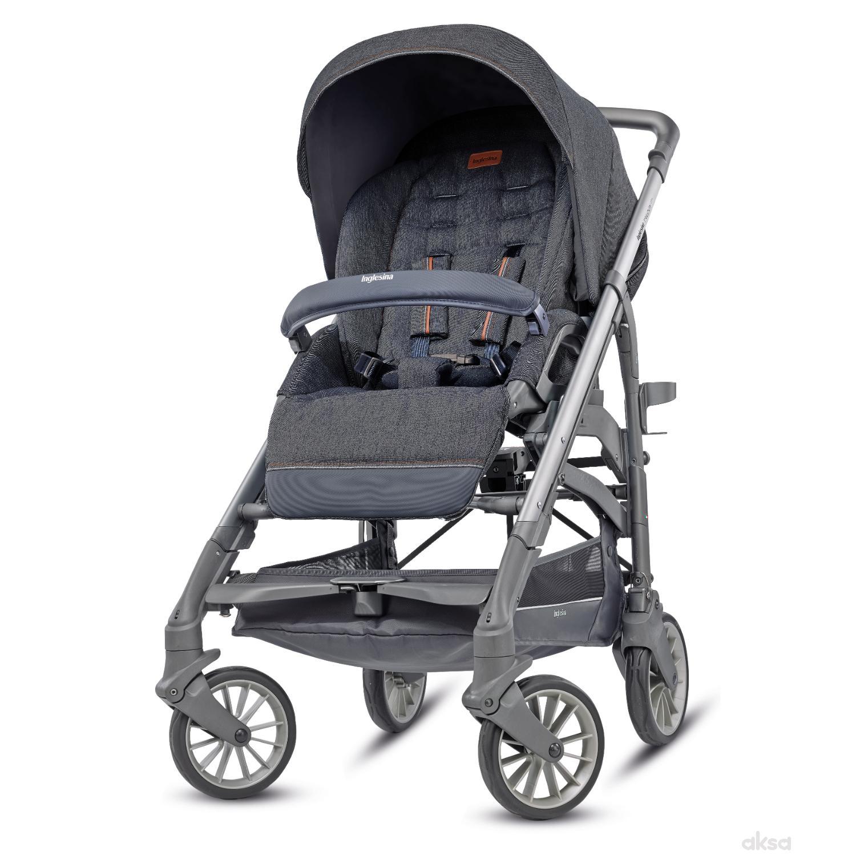 Inglesina kolica za bebe Trilogy sivi ram, village denim