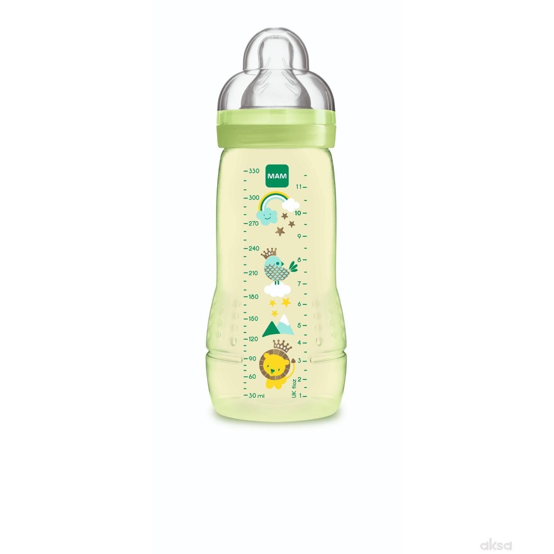 MAM flašica Baby bottle 330ml, silikon, 4m+
