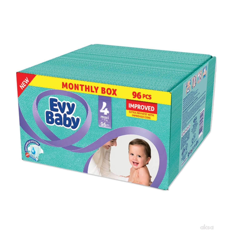 Evybaby pelene box 4 maxi 8-18kg 96kom