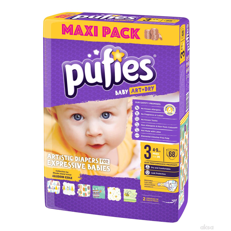Pufies pelene baby art MP 3 midi 4-9kg 68kom