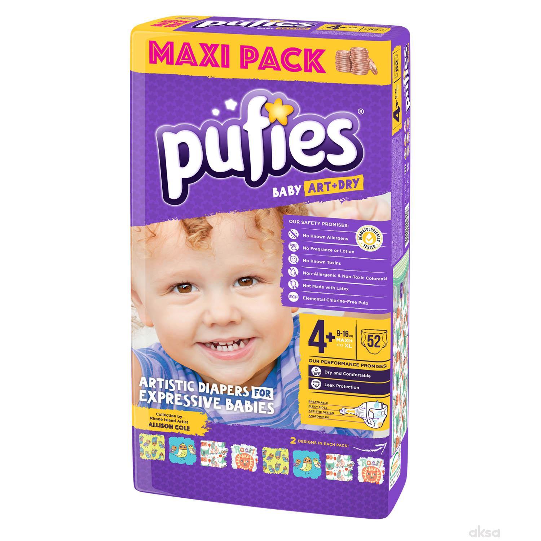 Pufies pelene baby art MP 4+ maxi+ 9-16kg 52kom