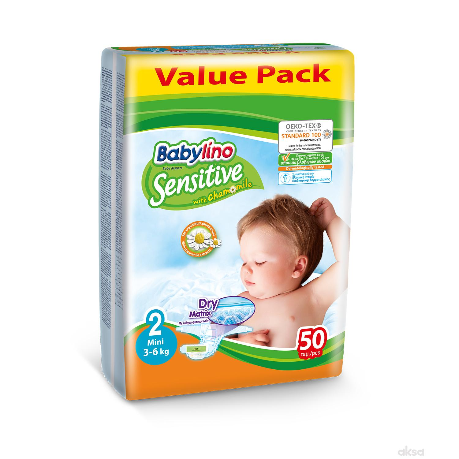 Babylino pelene sensitive VP 2 mini 3-6kg 50kom