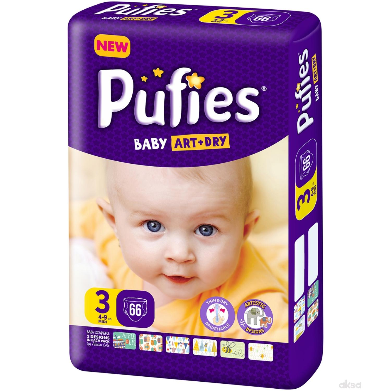 Pufies pelene baby art MP 3 midi 4-9kg 66kom