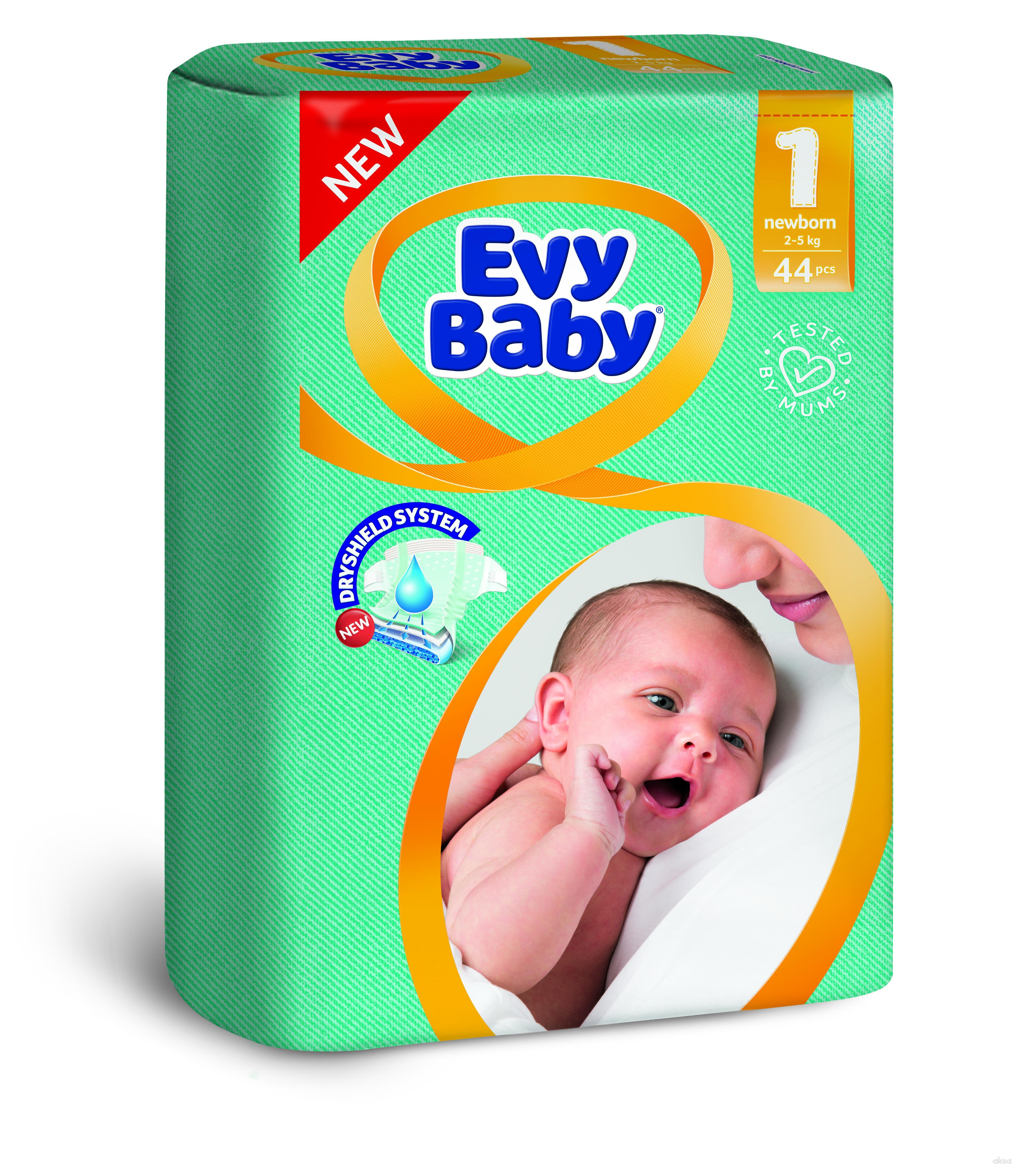 Evybaby pelene 1 newborn 2-5kg 44 kom