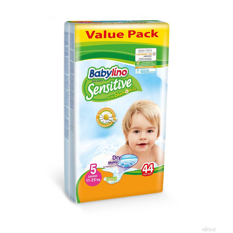 Babylino pelene sensitive VP 5 jun. 11-25kg 44kom