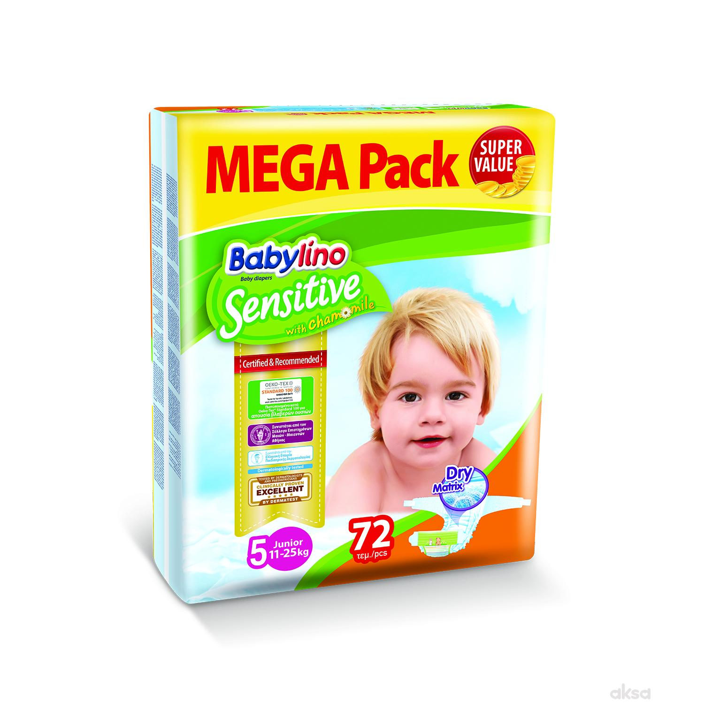 Babylino pelene sensitive MP 5 jun. 11-25kg 72kom