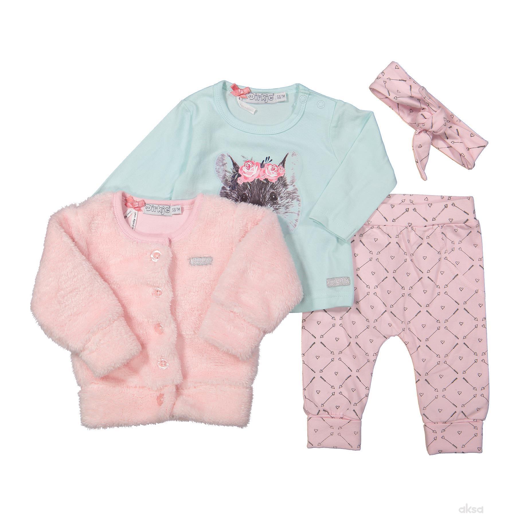 Dirkje komplet(duks,majica,traka,d.d),devojčice