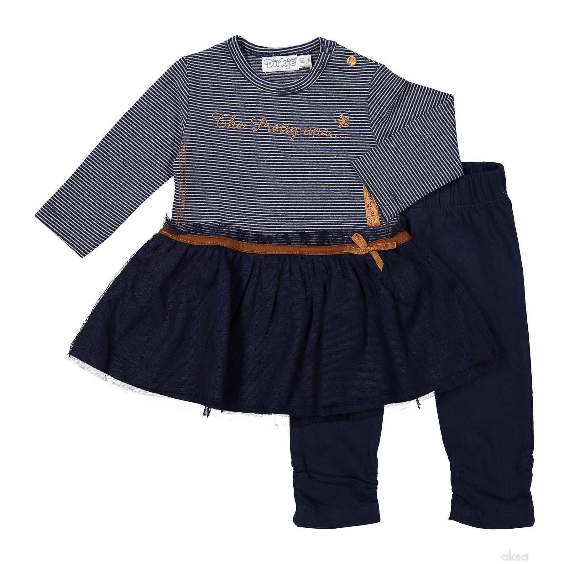 Dirkje komplet(haljina d.r i helanke),devojčice