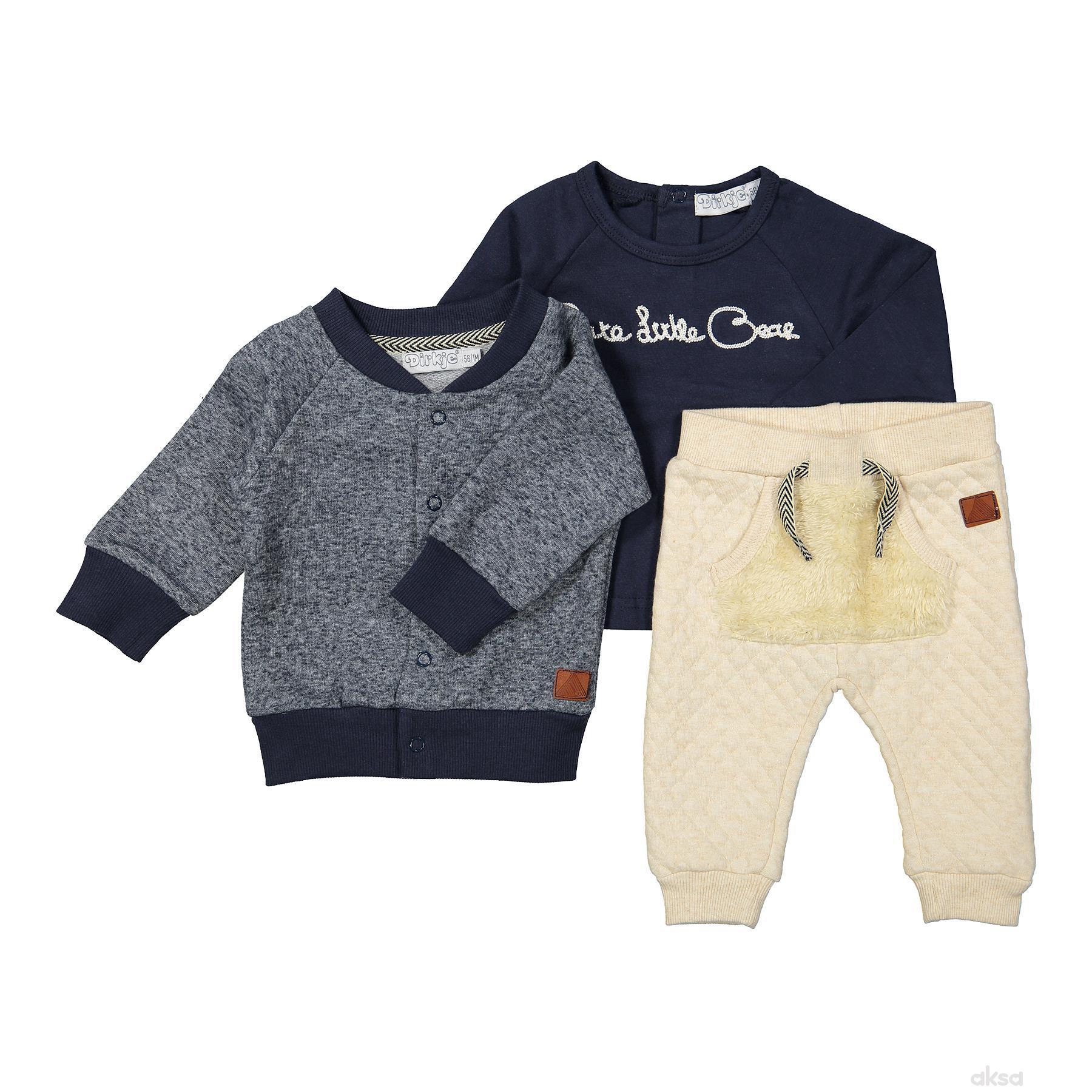 Dirkje komplet(duks,majica d.r,donji deo),dečaci