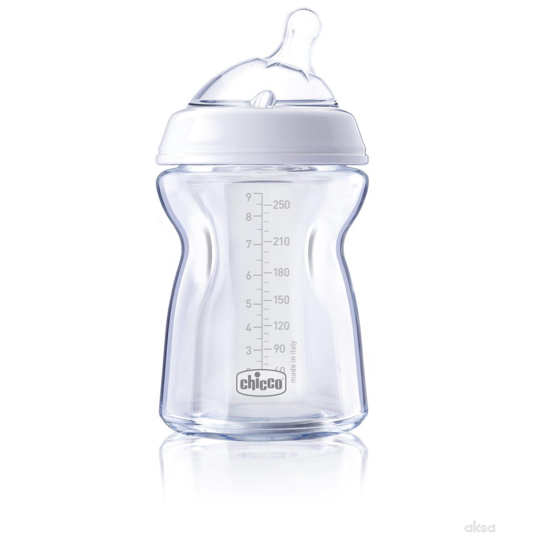 Chicco flašica Naturalfeeling 250 ml, silikon 0m+