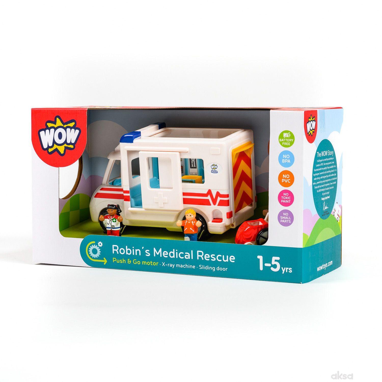 Wow igračka ambulantna kolaRobins Medical Rescue