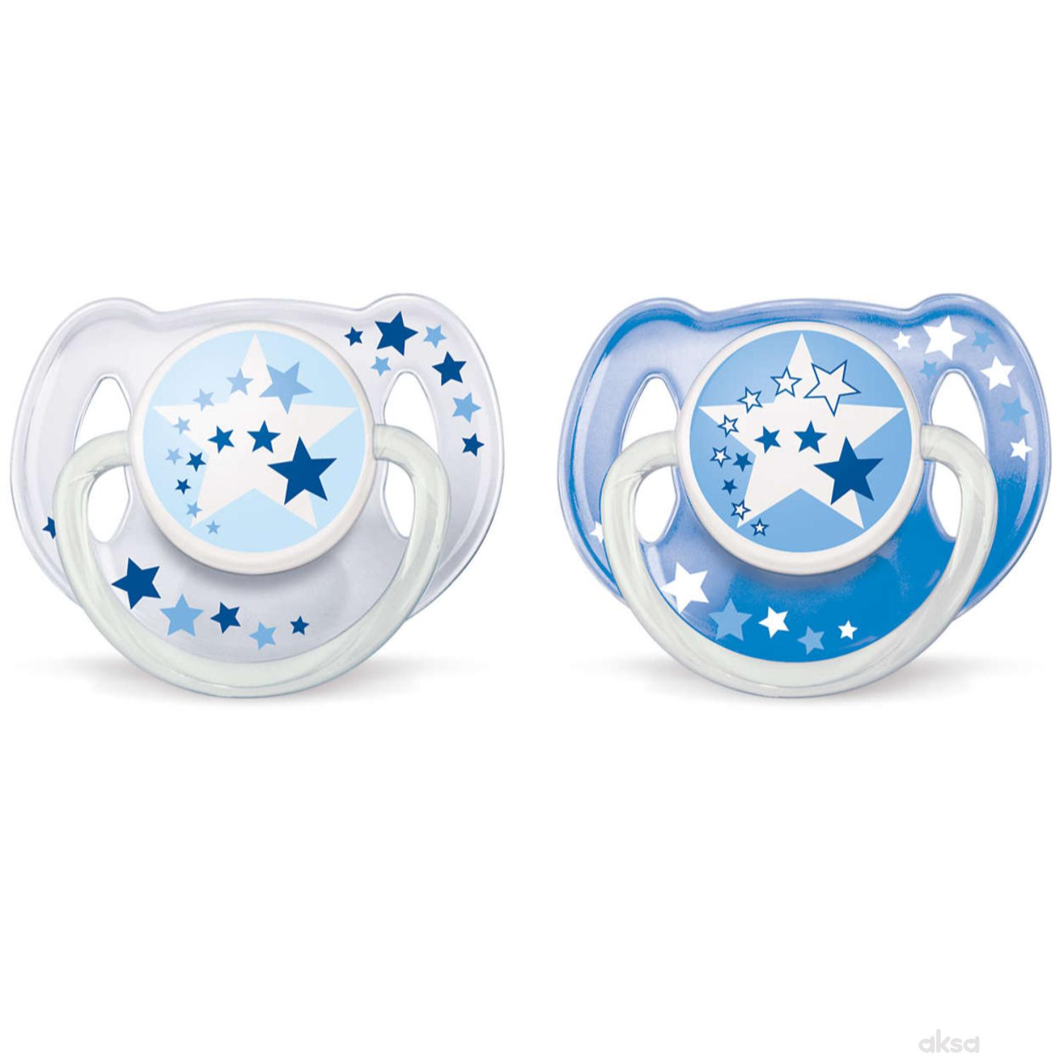 Avent laža noćna Night time pacifier 6-18 2/1 plav