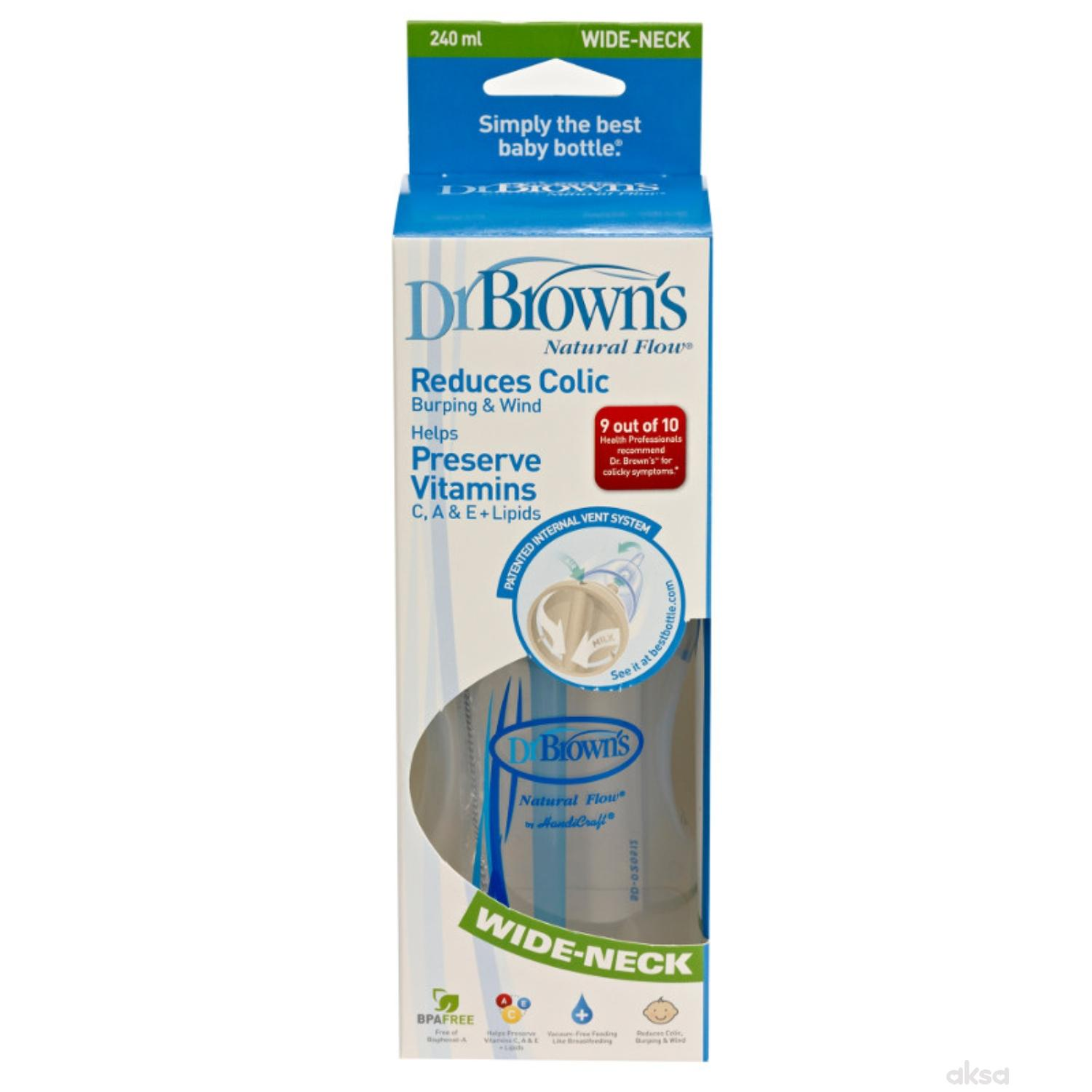 Dr.Browns wide neck plastična flašica 240ml