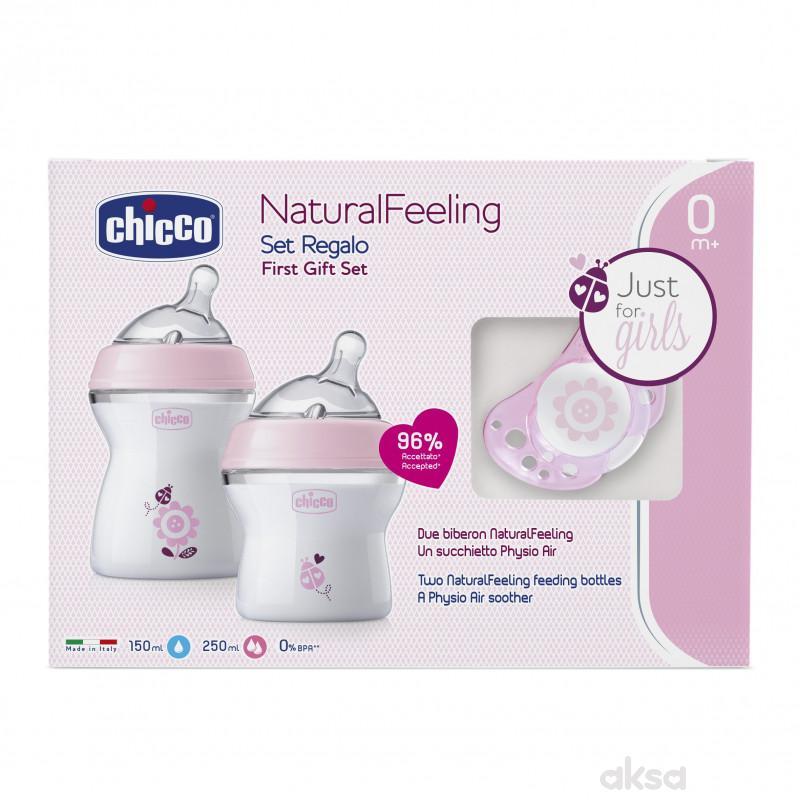 Chicco poklon set Naturalfeeling za devojcice