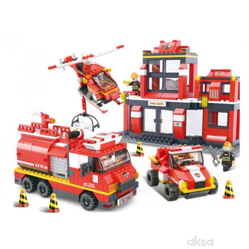 Sluban kocke, vatrogasni spasilački tim, 693 kom