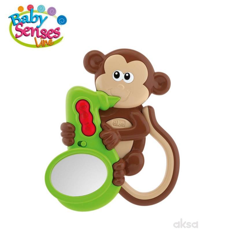Chicco zvečka Majmunče saksofonista