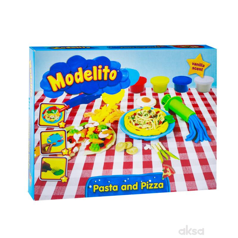 Modelito, plastelin set špagete i pizza