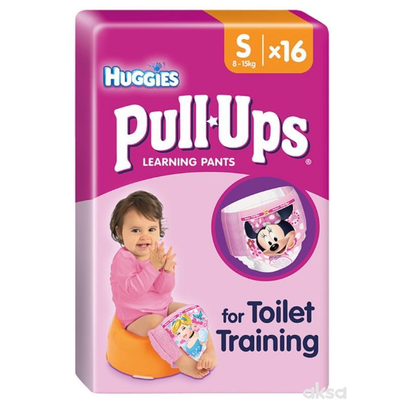 Huggies PullUps pelene, devojčice, S 8-15kg 16