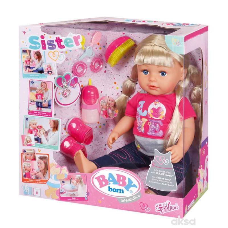 Baby born interaktivna lutka sestra
