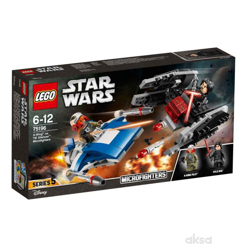 Lego Star wars a-wing vs tie silencer microfighte