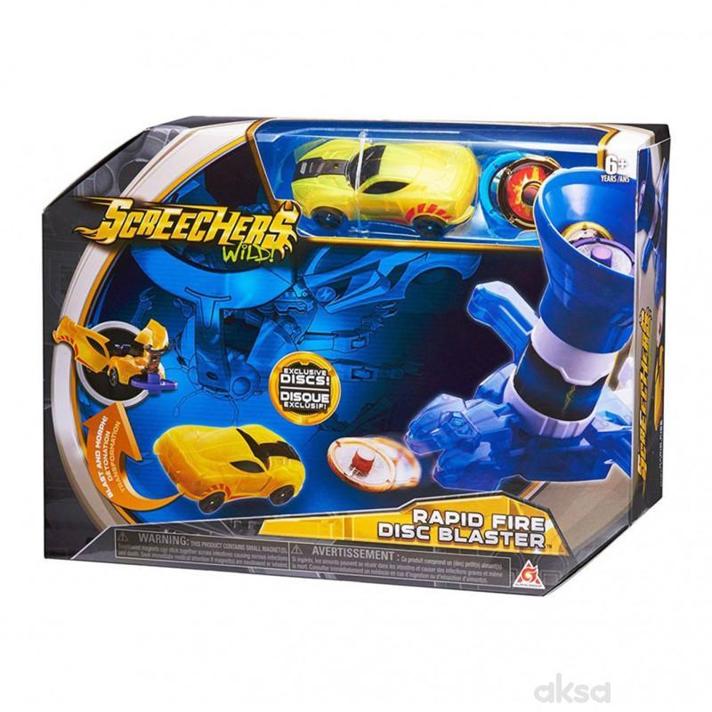 Screechers Rapid Fire Disc Blaster