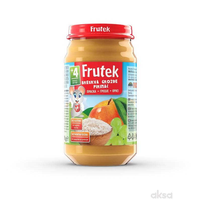 Frutek kašica breskva, pirinač i grožđe 190g