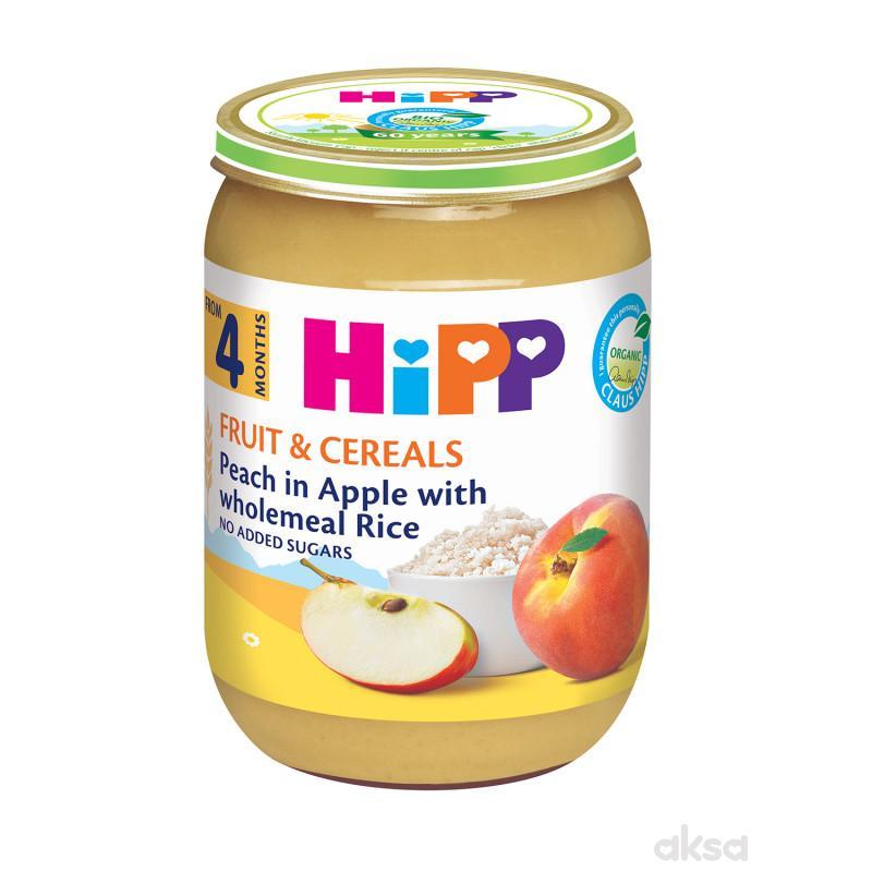 Hipp kašica integralni pirinač sa voćem 190g