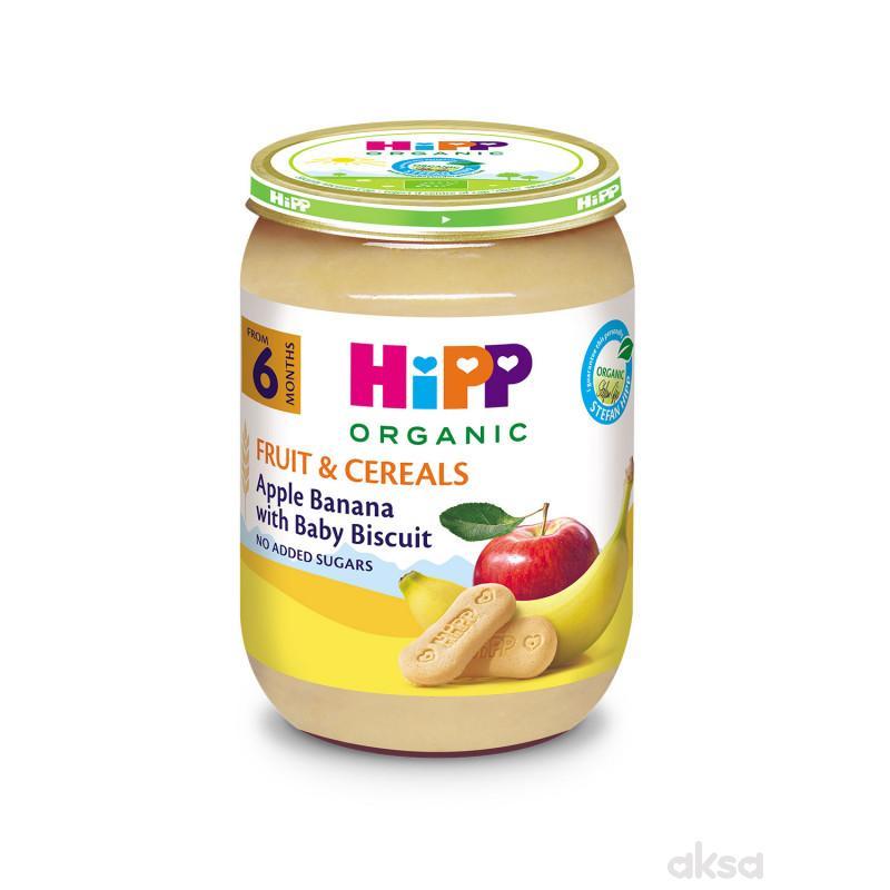 Hipp kašica jabuka i banana sa keksom 190g