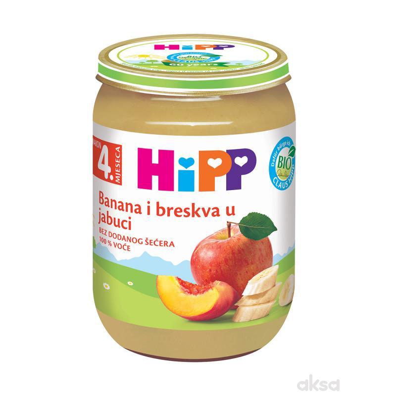Hipp kašica banana i breskva u jabuci 190g