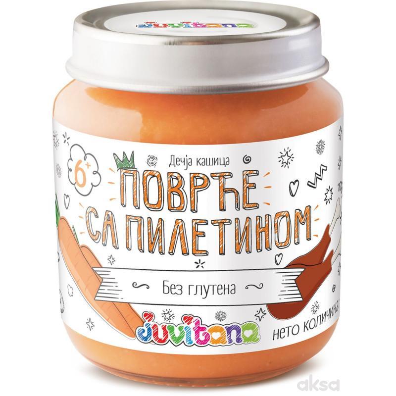 Juvitana kašica povrće sa piletinom 128g