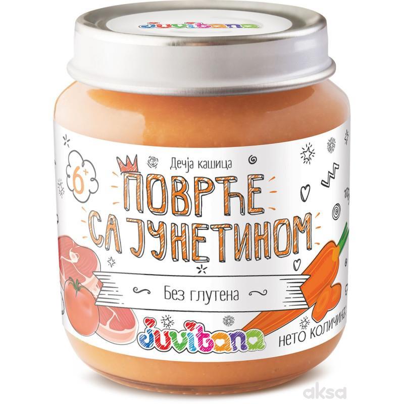 Juvitana kašica povrće sa junetinom 128g
