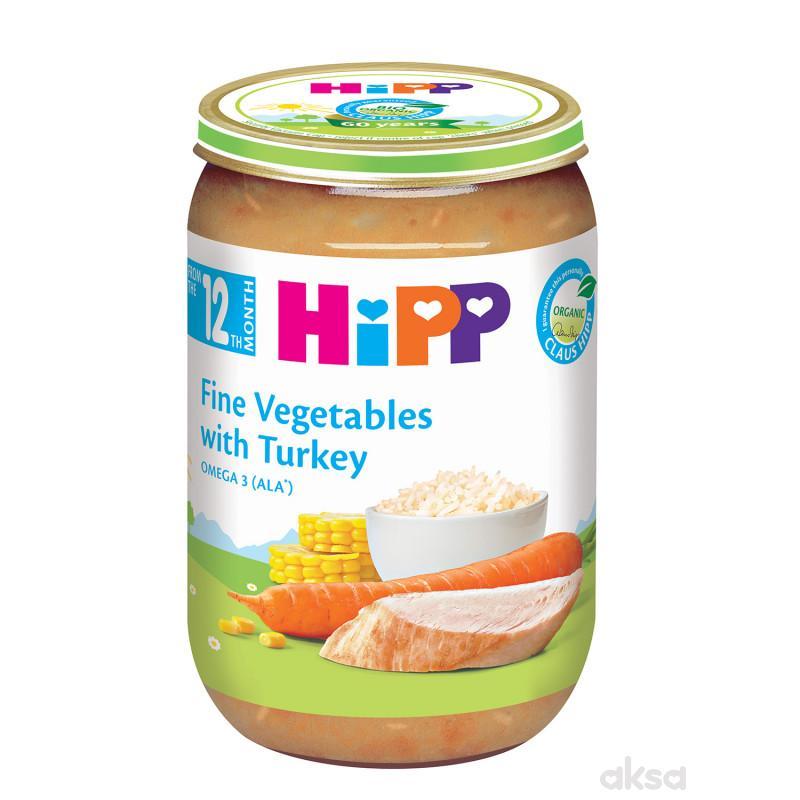 Hipp kašica ćuretina sa povrćem 220g
