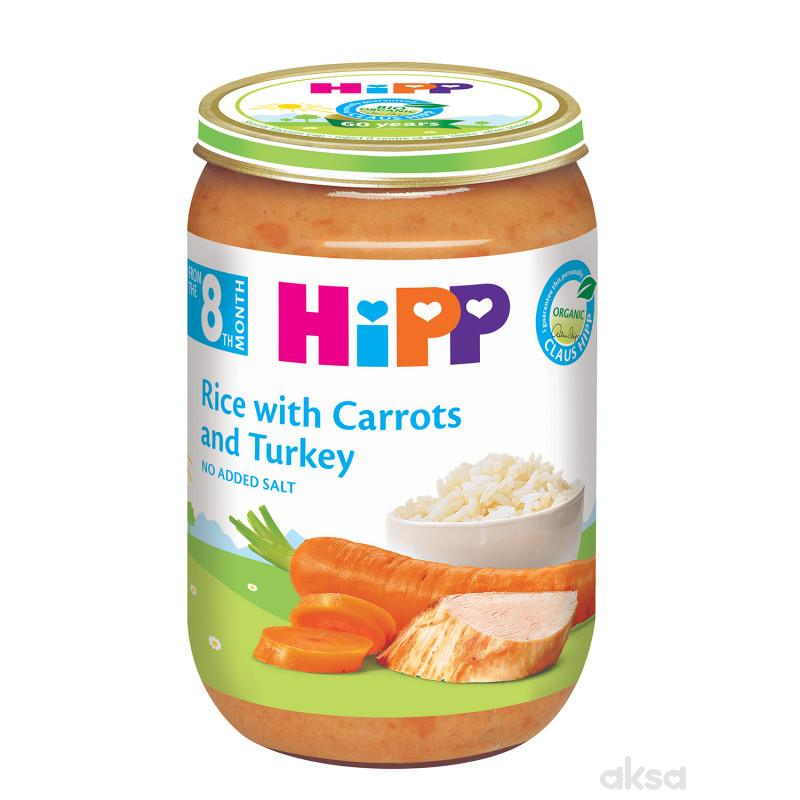 Hipp kašica ćuretina sa pirinčem i šargarepom 220g