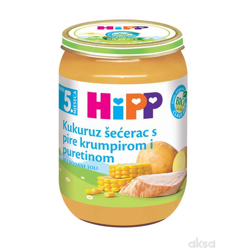 Hipp kašica ćuretina sa pire kro. i kukur. 190g