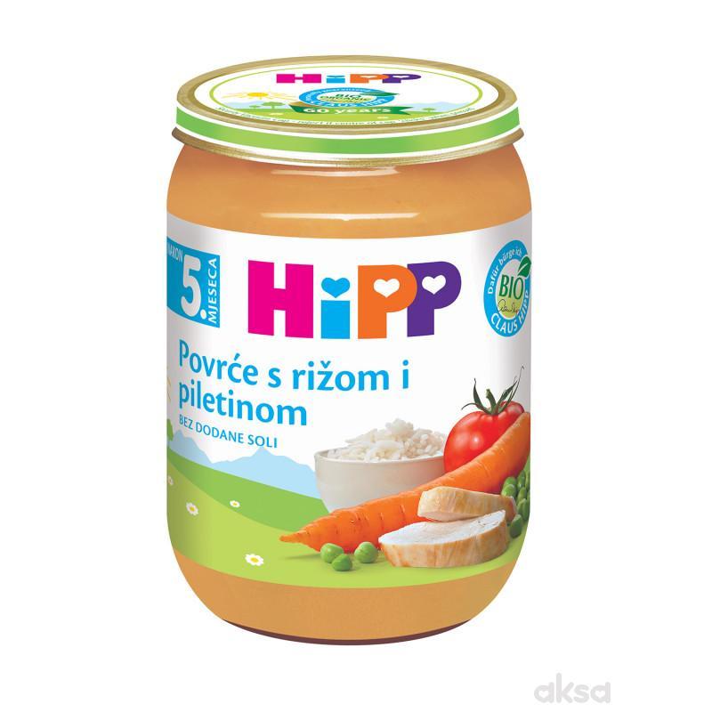 Hipp kašica povrće sa pirinčem i piletinom 190g