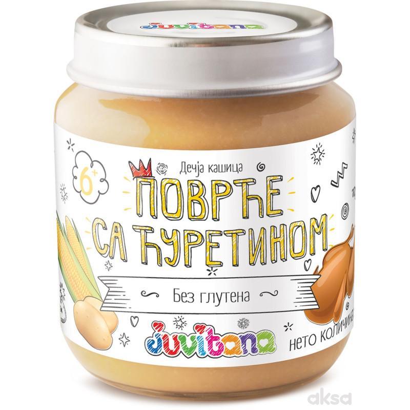 Juvitana kašica povrće sa ćuretinom 128g