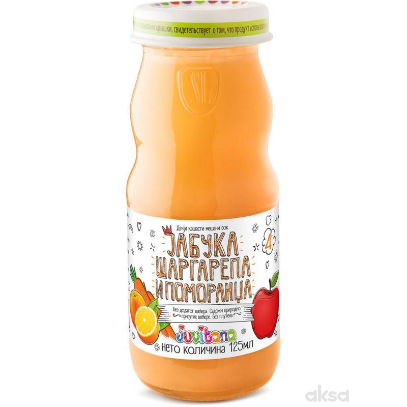 Juvitana kašasti sok jabuka, mrkva i pom. 125ml
