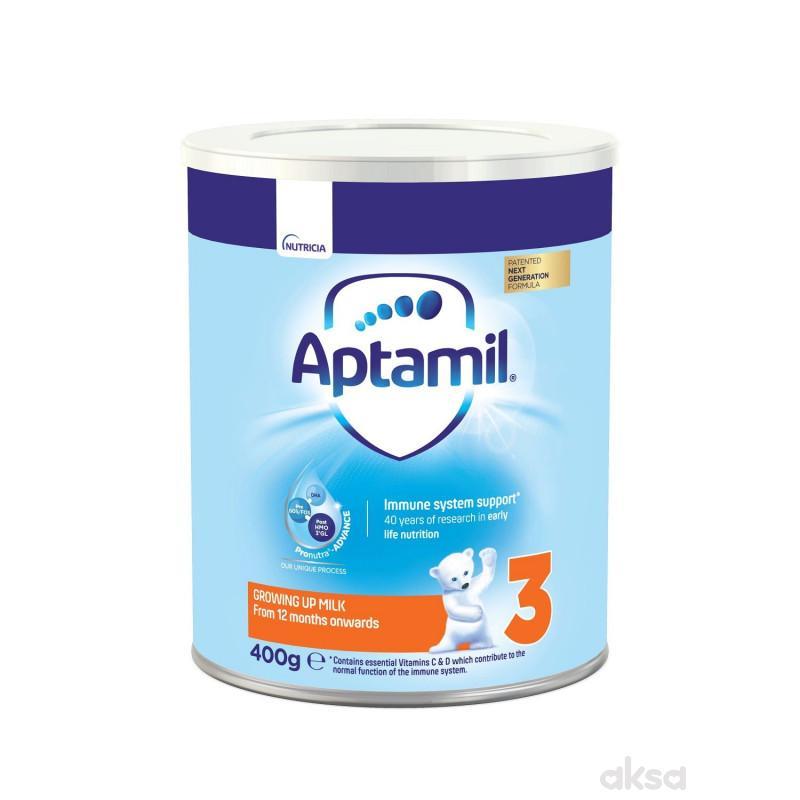 Milupa mleko aptamil 3 400g limenka