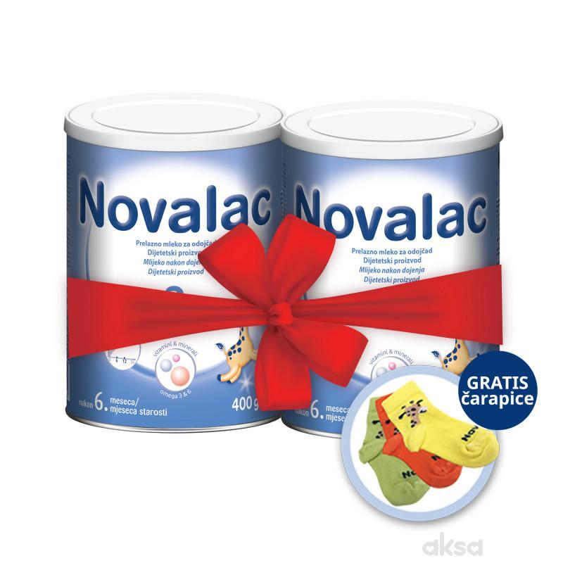 Novalac 2,400g duplo pakovanje + gratis čarapice